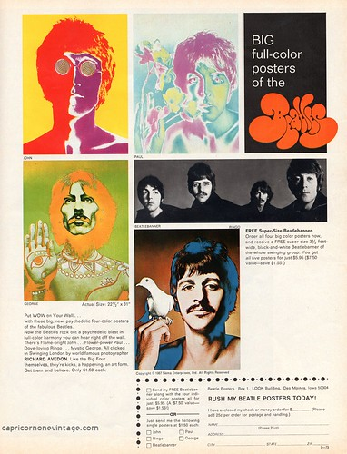 1968 beatles poster offer by CapricornOneVintage