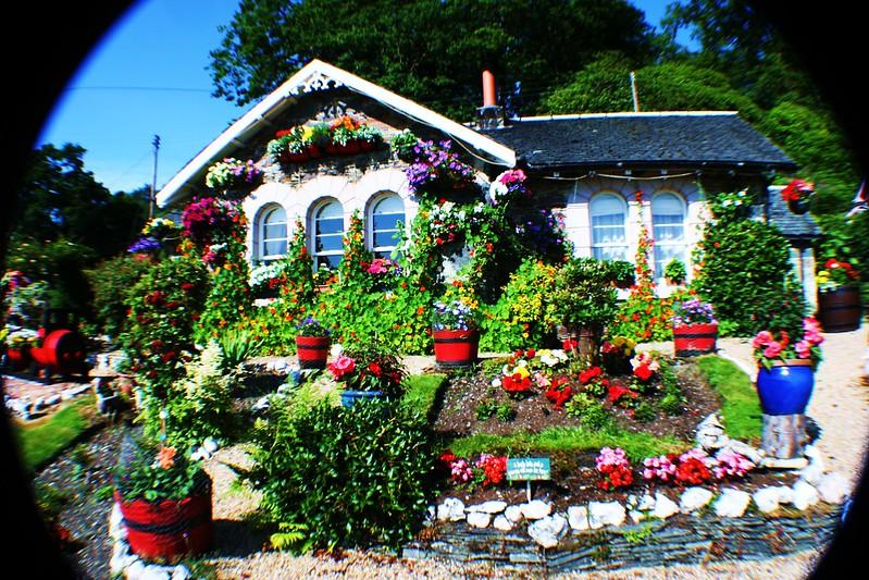 Colourful cottage at Aldochlay, Loch Lomond, Scotland