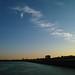 vue de Bordeaux depuis le pont Chaban-Delmas / sunset