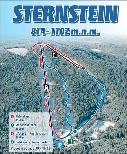 Sternstein - mapa sjezdovek