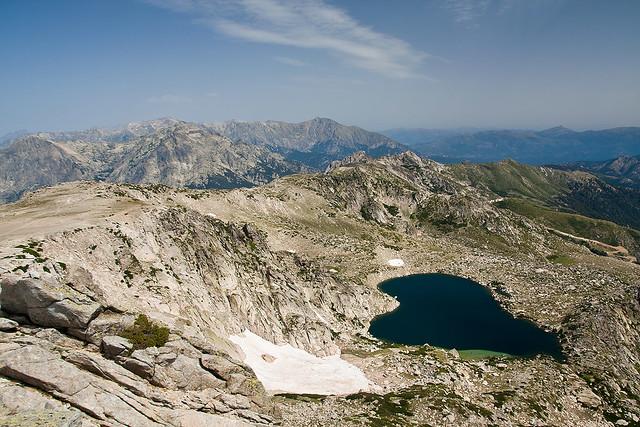 Lac de Bastani z Monte Renoso