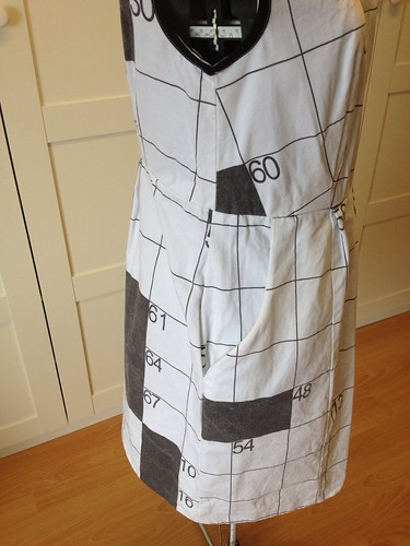 crossword dress #3 side