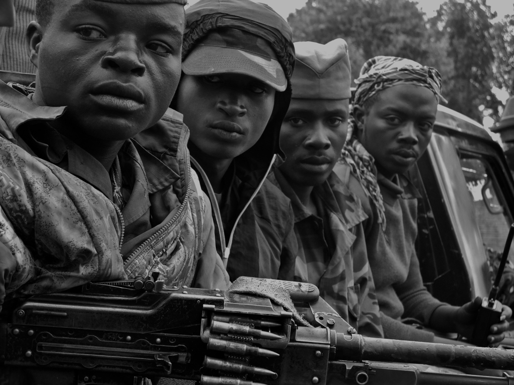 Rebel fighters, eastern DR Congo