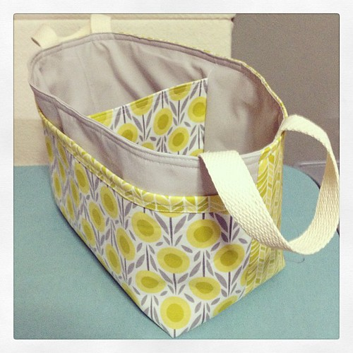Divided basket I made using an @noodlehead531 pattern and #cloud9fabrics