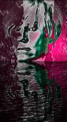 Andy Warhol Portrait-Pop Art with Water Ripples