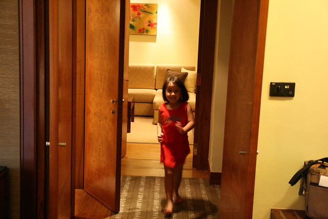 Little ones running between the rooms...
