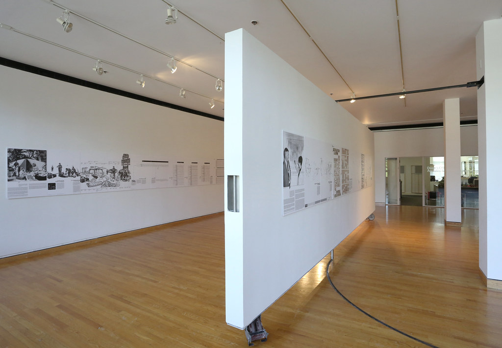 A view of the exhibition in the John Hartell Gallery.