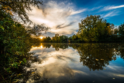 East River in Green Bay, WI by kenfagerdotcom