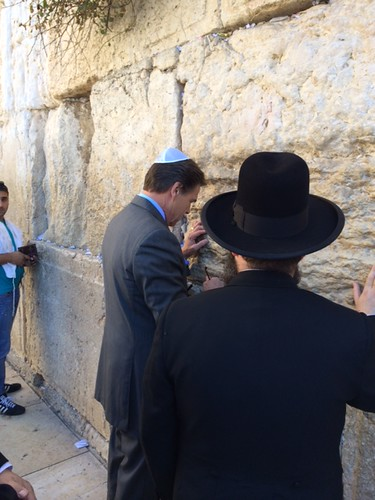 Governor Perry praying at the Western Wall.