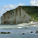 Close-up view on the Northern cliffs near Petit-Dalle in Normandy France with a quiet sea; landscape photography, Fons Heijnsbroek 2007 ©Amsterdam City - urban portrait in photo pictures