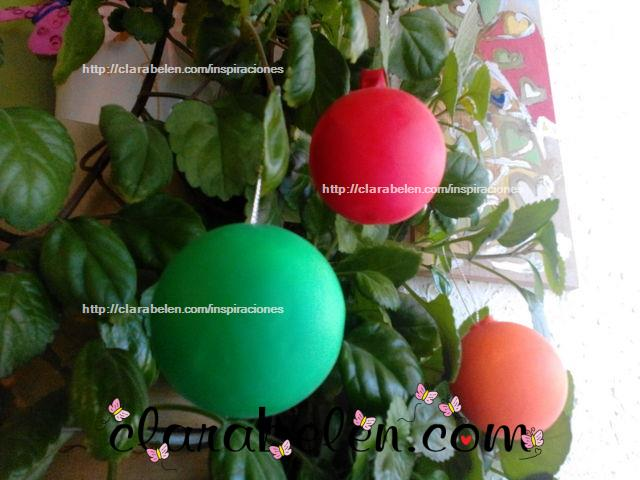 bolas de navidad con globos y bolas de poliespn en un minuto