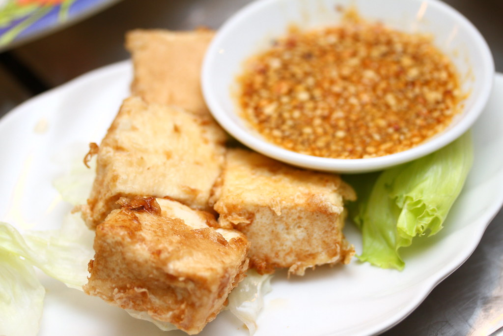 Kombi Rocks' Crispy Beancurd with Thai Dip and Ground Peanuts