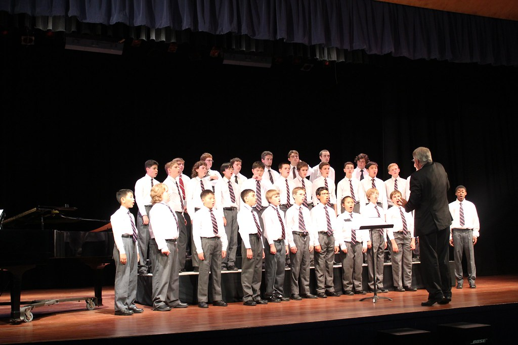 The San Francisco Boys Chorus performs in the Eugene O'Neill Theatre in San Jose