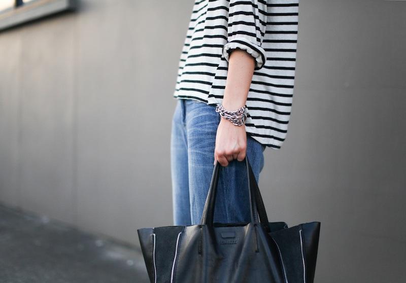 modern legacy fashion style blogger australia bassike french stripe boyfriend jeans tibi amber heels najo (2 of 3)