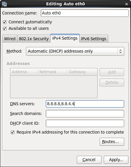 How to configure static DNS on CentOS or Fedora - Ask Xmodulo