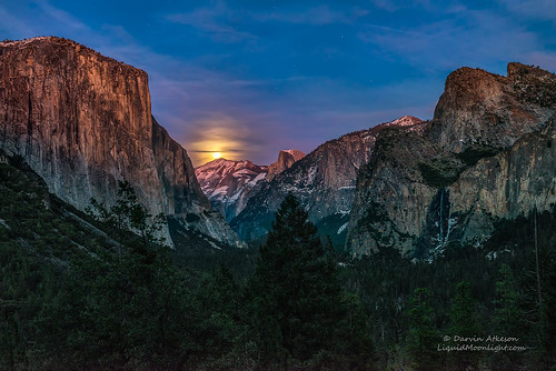 Full Moon over Yosemite National Park