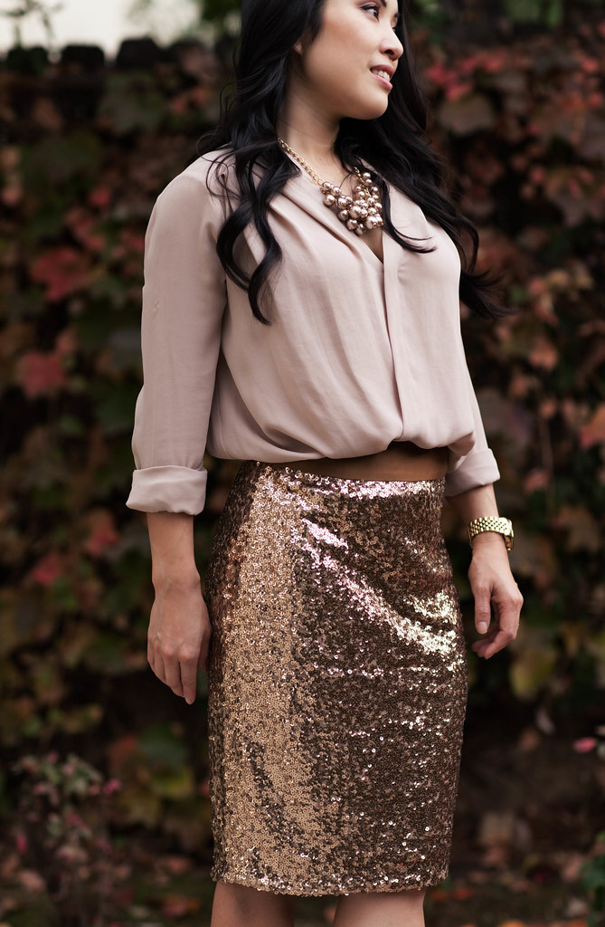 A Sequin Skirt - cute & little | Dallas Petite Fashion Blogger