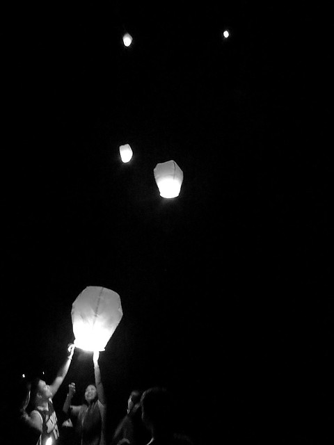 Flying Kongming lantern. Photographed by Bernard Eirrol Tugade