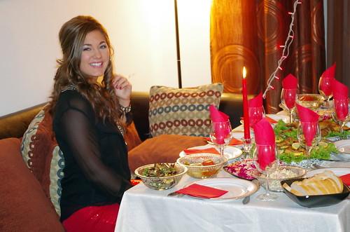 Stephanie at the table