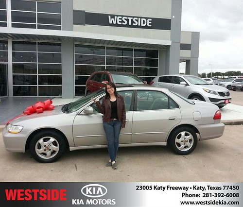 Thank you to Cassandra Nichols on your new car from Rubel Chowdhury and everyone at Westside Kia! #NewCarSmell by Westside KIA