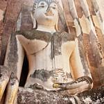 Image of Wat Si Chum near Ban Na. thailand 2013 asia southeastasia sukhothaihistorical park watsichum sukhothaihistoricalpark oldsukhothai december ประเทศไทย ราชอาณาจักรไทย สุโขทัย อุทยานประวัติศาสตร์สุโขทัย sukhothaimuangkao canonefs1755mmf28isusm buddha 泰国 watsrichum canon450d unescoworldheritagesite