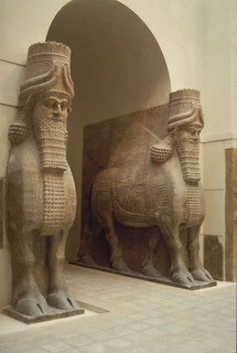 Lamassu (winged bull-man) gateway from the Palace of Sargon II at Khorsabad (Dur-Sharrukin)