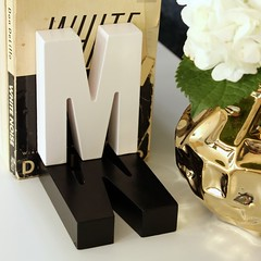 Shadow Monogram Bookends