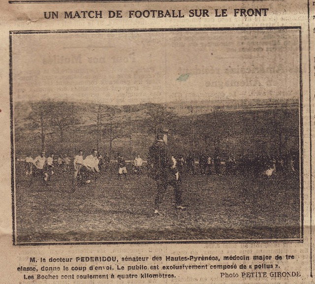 "Rugby during ww1 - 1915 ""Un Match de Football sur le Front"""