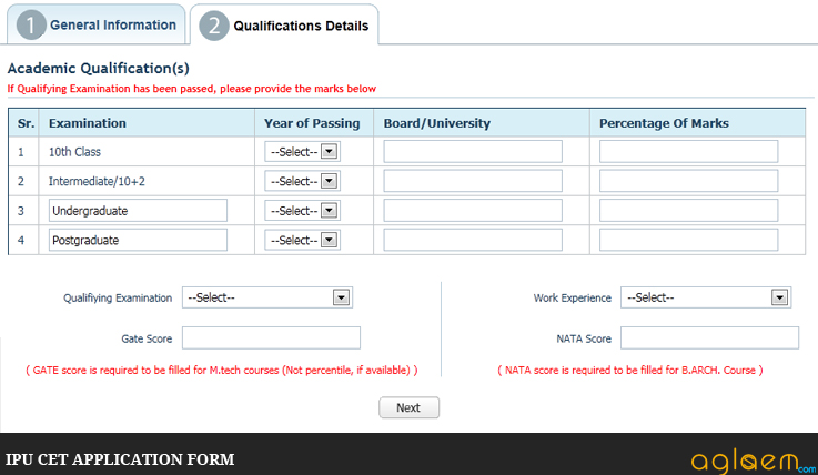 IPU CET Application Form How to Fill