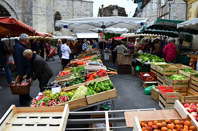 Shopping at market, France