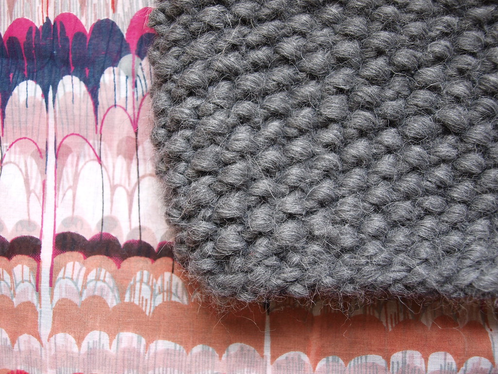 KNIT THIS SNOOD; GET WARM AND FUZZY