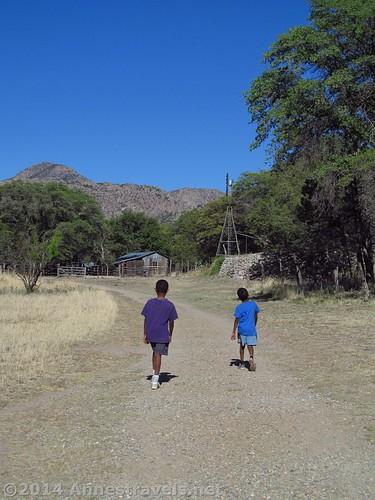 Walking to Faraway Ranch, Chiricahua National Monument, Arizona
