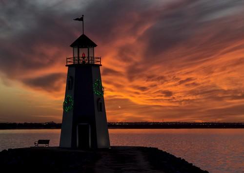 sunset red orange sun lake color oklahoma clouds landscape colorful surreal oklahomacity lakehefner
