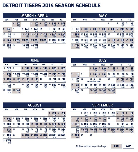 Eloquent image intended for printable detroit tigers schedule