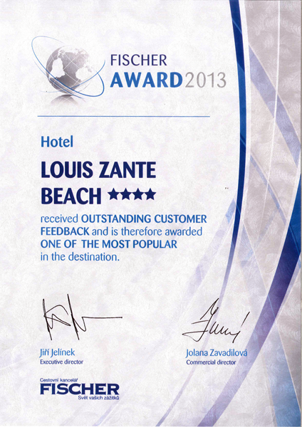 FISCHER AWARD 2013 - Louis Zante Beach hotel in Zakynthos, Greece