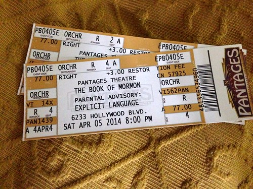 Tickets to Book of Mormon