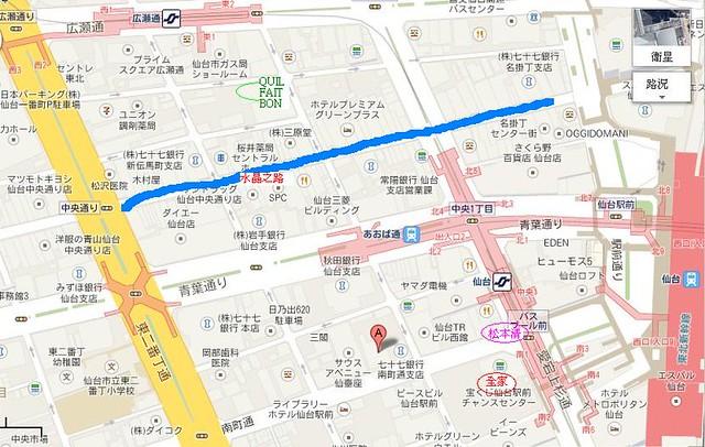 仙台車站地圖