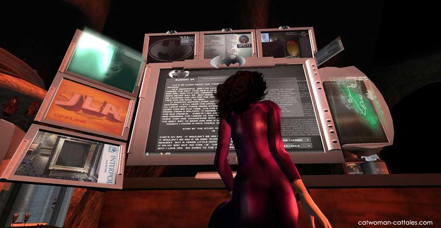 Selina Kyle in the Batcave - Workstation One