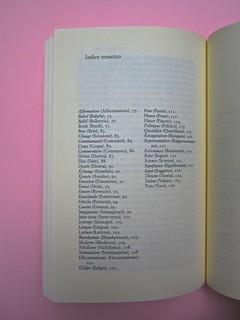 Roland Barthes, Variazioni sulla scrittura. Einaudi 1999. [Responsabilità grafica non indicata]. Indice tematico: pag. 128 (part.), 1