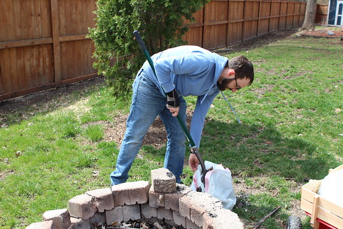 Digging Out Fire Pit