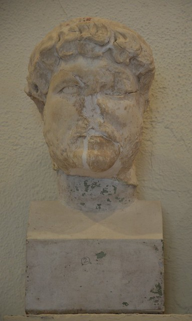 Fragmented head of Hadrian, Archaeological Museum of Epidaurus