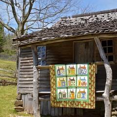 Quilt Display at the Brinegar Cabin