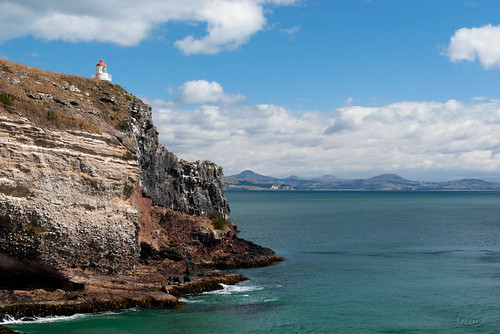 newzealand sky lighthouse seascape clouds landscape hills pacificocean southisland otago dunedin otagopeninsula taiaroahead tripdownsouth
