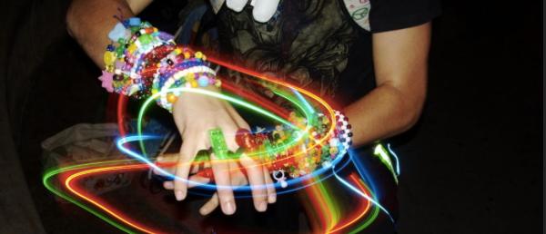 Rave light bracelets for Dallas Fashion from kickstarter