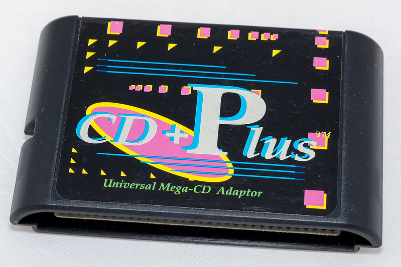 """CD plus+"" cartridge for SegaCD and MEGACD"