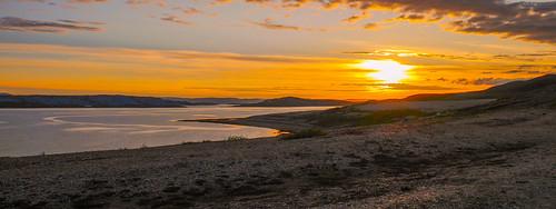 sunset sea nature norway finnmark porsanger