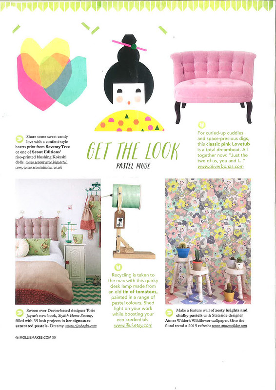 Stylish Home Sewing Mollie Makes March 2015