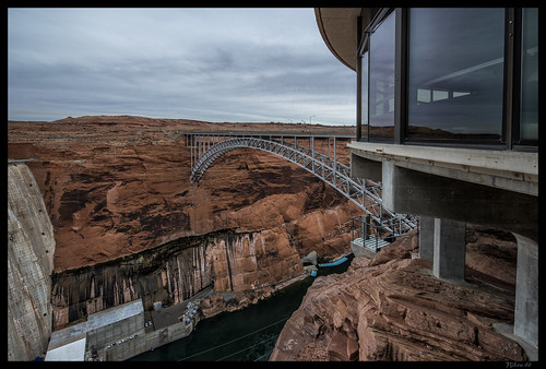 bridge arizona nikon dam page coloradoriver lakepowell d800 glencanyondam glencanyonbridge coconinocounty 1424mmf28nikkor ©copyright