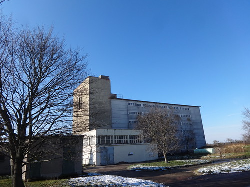 1969 Maasdorf Schweinehochhaus genannter Stallbau 6Et. für 600Sauen/12.000Läufer von Peter Uschner/Rolf Nolle K2073 Dorfstraße in 06388