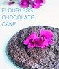 Flourless chocolate cake with orchid by little luxury list
